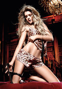 Leopard Satin Camisole/shorts Set (disc)