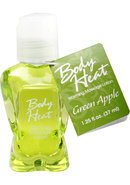 Body Heat Edible Warming Massage Lotion Green Apple 1.25...